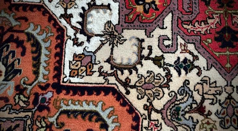 corrección de colores alfombras